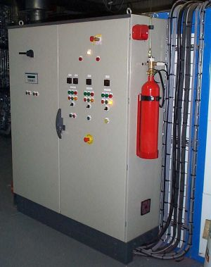 Why actuate your room-level fire suppression system when electrical cabinet fire protection can put electrical fires out where they start.