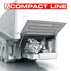 Compact, easy-to-install, more flexibility—all within a UNECE R107-approved vehicle fire system