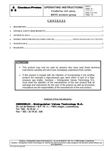 B0701 for Valve FireDETEC ILP Technical Notice