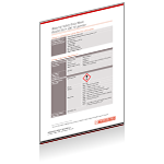 Rotarex Firetec fire protection system components safety data sheet.