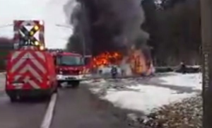 Students On Ski Trip Make Lucky Escape From Bus