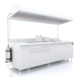 The economical FireDETEC automatic fire suppression system for commercial kitchens is LPCB approved.