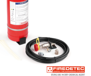FireDETEC Automatic Fire Suppression System Using ABC 90 Dry Chemical Agent