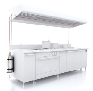 The LPCB-certified Rotarex Firetec FireDETEC® automatic fire suppression system is ideal for commercial kitchens as it provides fast fire detection and fire suppression at the point where a fire could start.