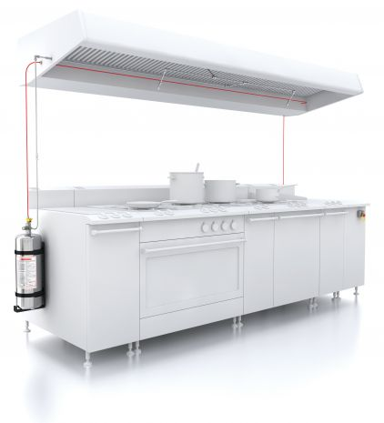 The FireDETEC automatic fire detectin and fire suppression system for commercial kitchens is important fire protection to keep a restaurant up and running in the event of a fire.