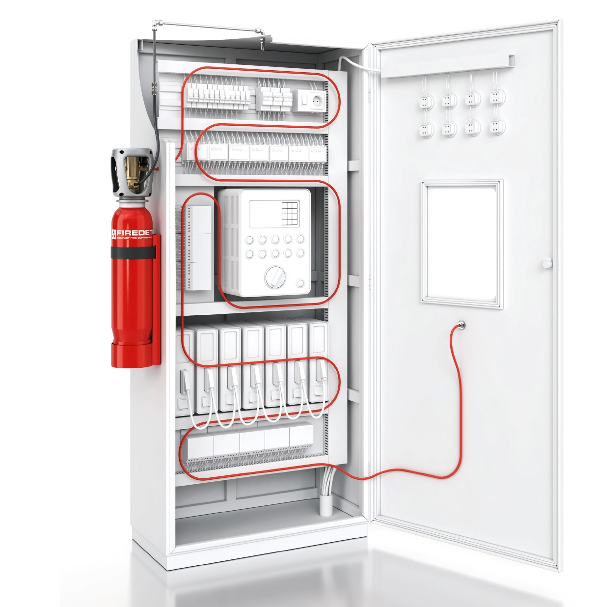 Firedetec Electrical Cabinet Fire Suppression And Protection System Home Wiring Systems Pre Engineered Indirect Co2 Extinguishing Agent With Dimes