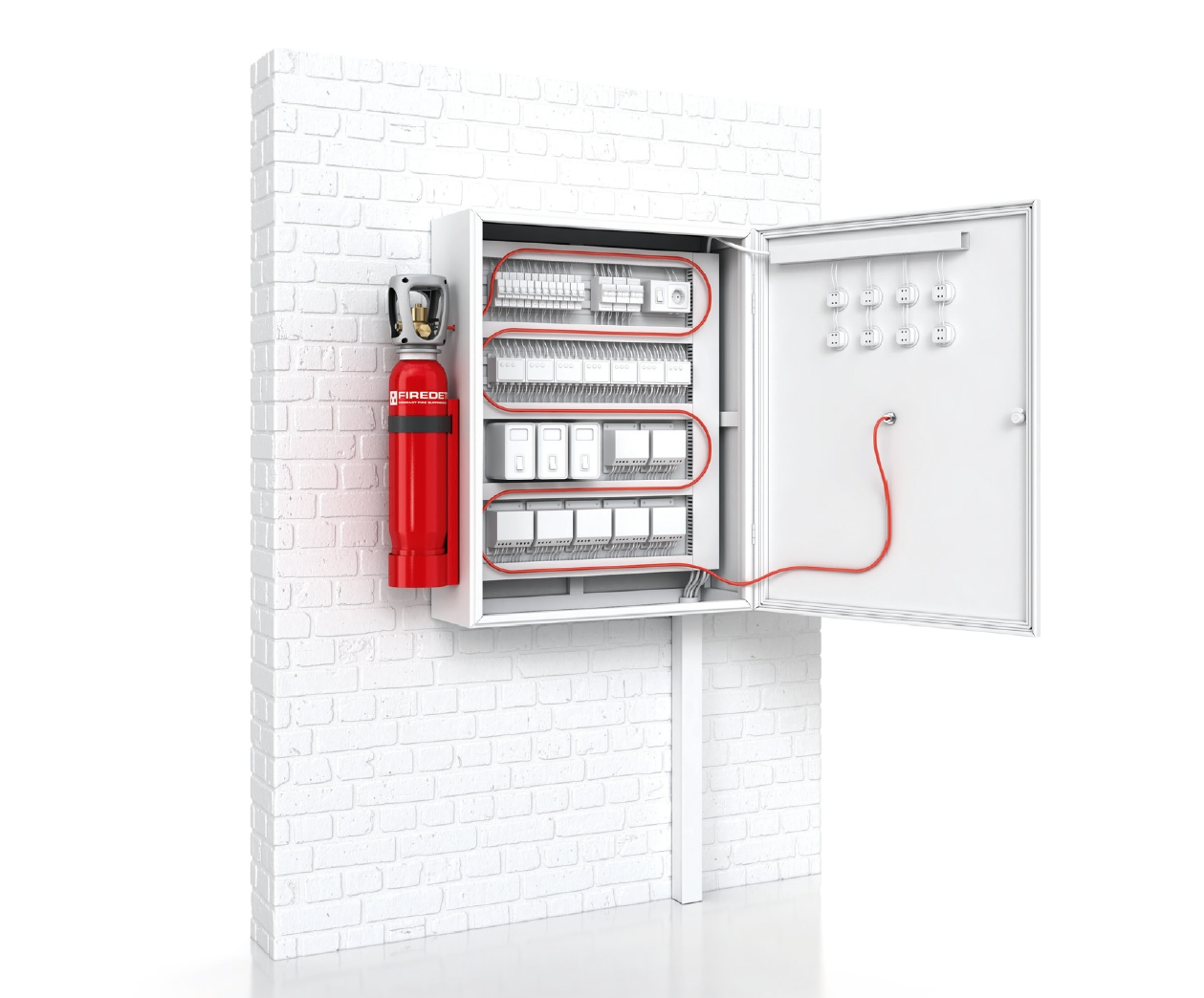 Pre Engineered Electrical Cabinet Fire Suppression System   Direct CO2  Extinguishing Agent