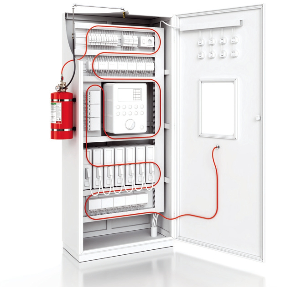 Pre-Engineered Electrical Cabinet Fire Suppression System - Indirect HFC-227ea Extinguishing Agent